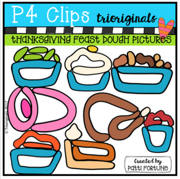350x348 Thanksgiving Feast Dough Pictures (P4 Clips) By P4 Clips Trioriginals