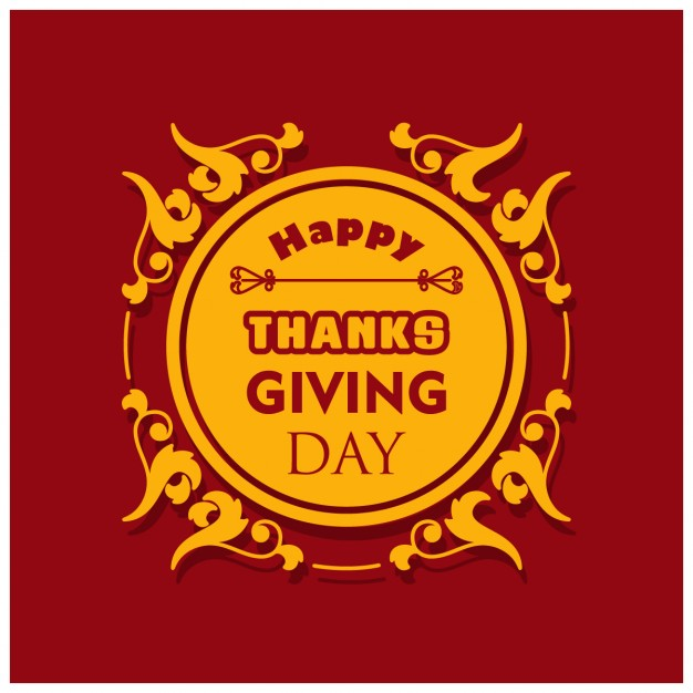 626x626 Red Background With A Label For The Thanksgiving Day Vector Free