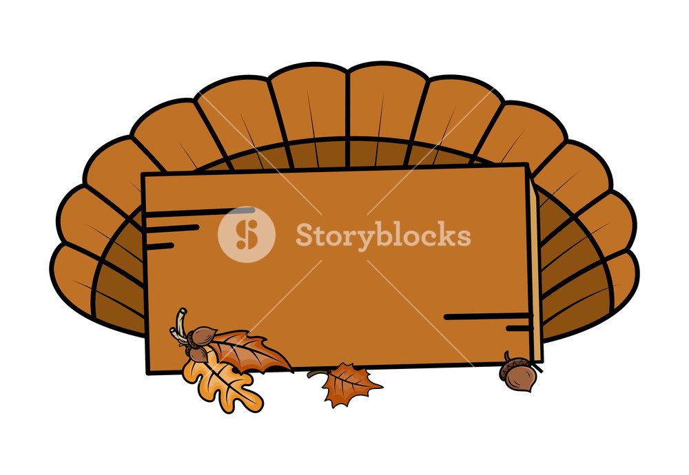 1000x690 Thanksgiving Day Banner Vector Royalty Free Stock Image