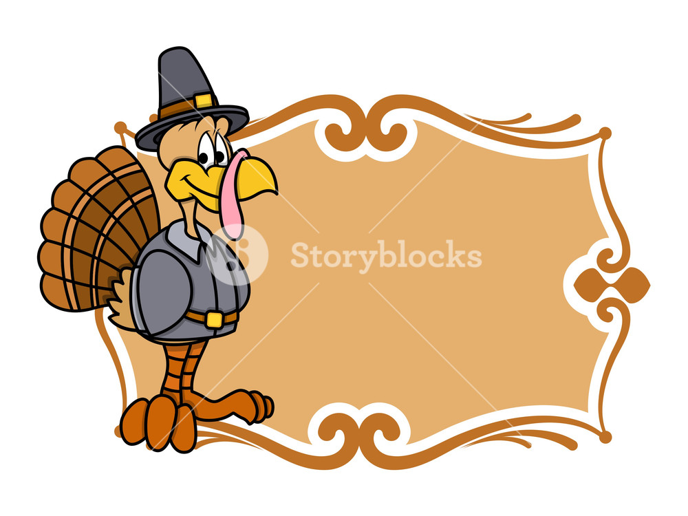 1000x750 Thanksgiving Day Turkey Banner Royalty Free Stock Image