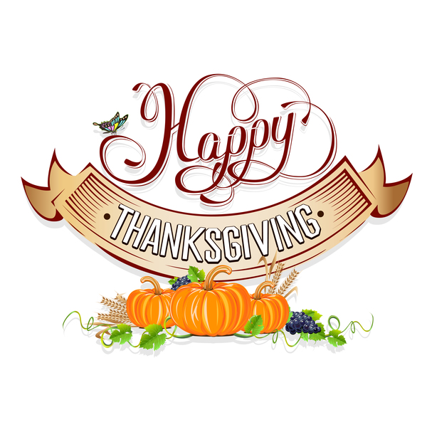 600x600 Thanksgiving Day Labels Creative Design Vector 02