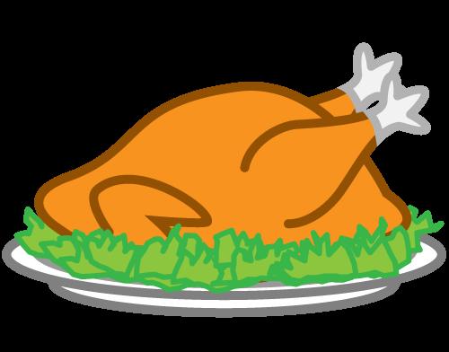 500x392 Plate Clipart Turkey Dinner