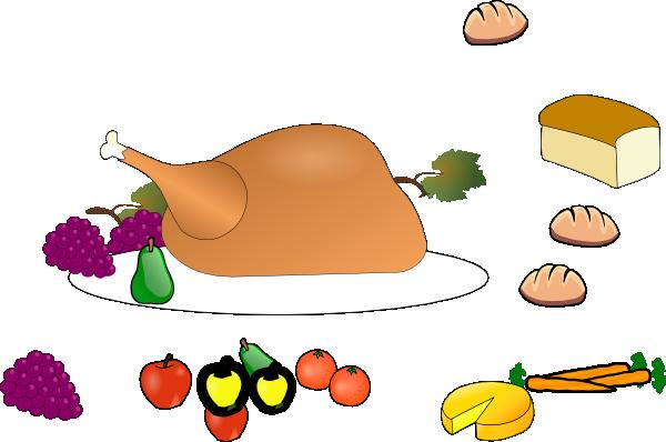 600x398 Turkey Dinner Clip Art Clipart Panda