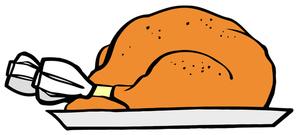 300x135 Turkey Dinner Clipart