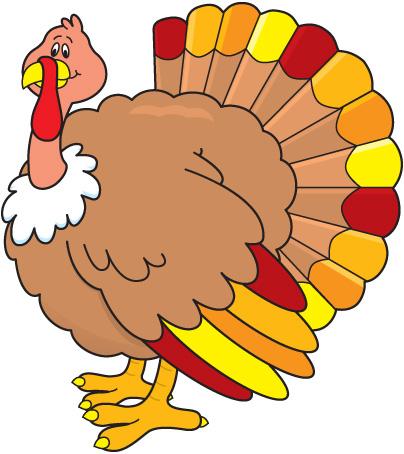 404x454 Clip Art Turkey Dinner Image