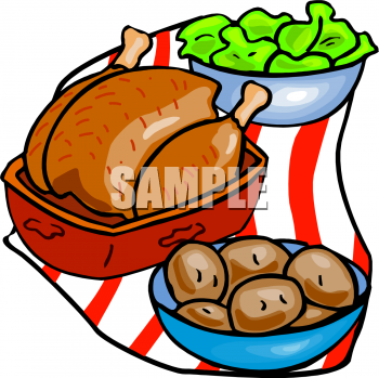 350x349 Clipart Images Of Dinner Food