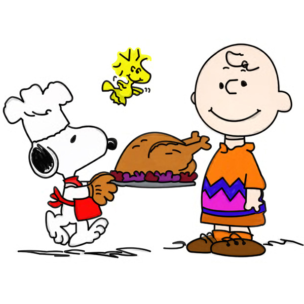600x600 Snoopy Thanksgiving Free Clip Art