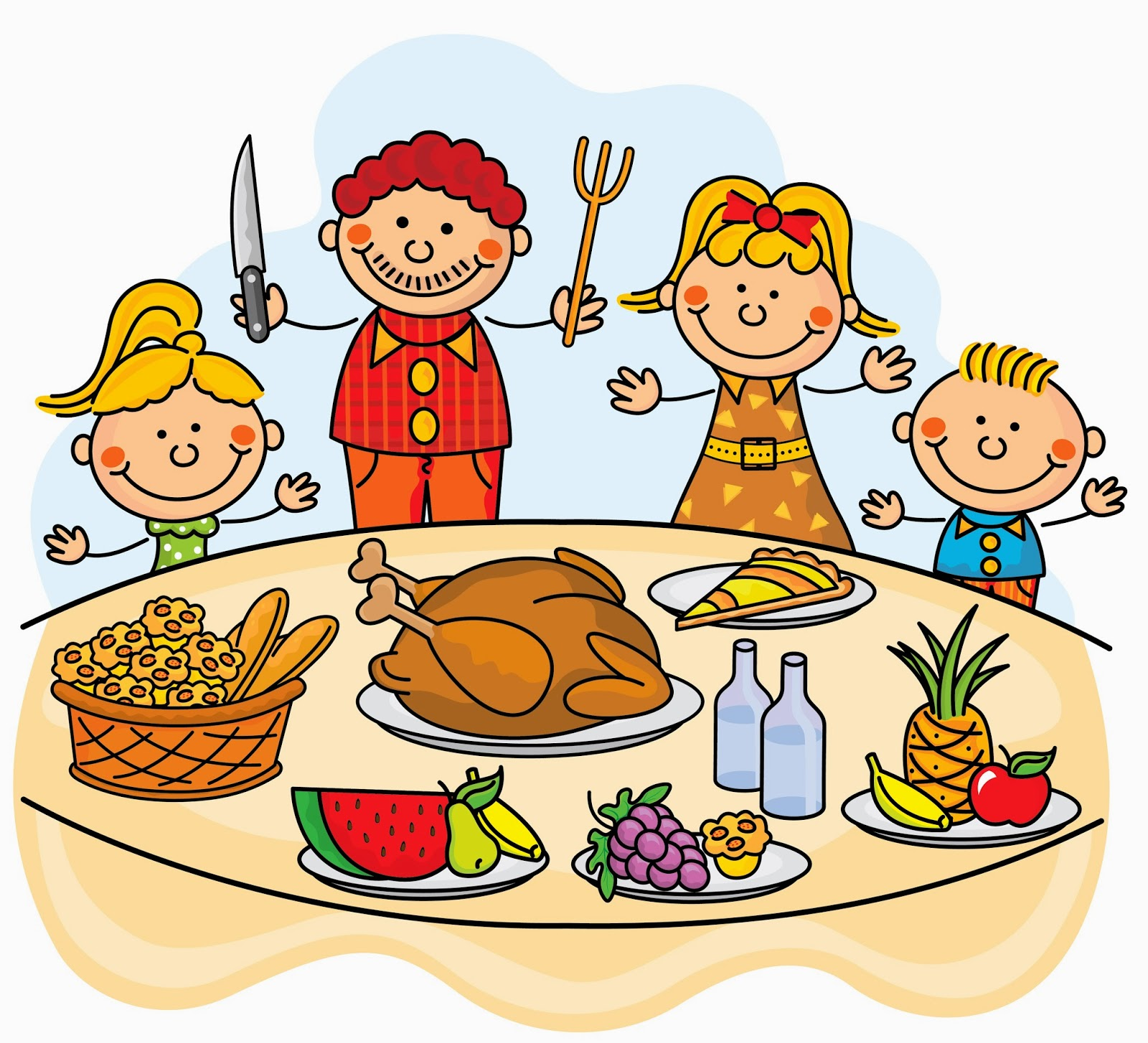 Holiday clipart holiday potluck - Pencil and in color holiday ...