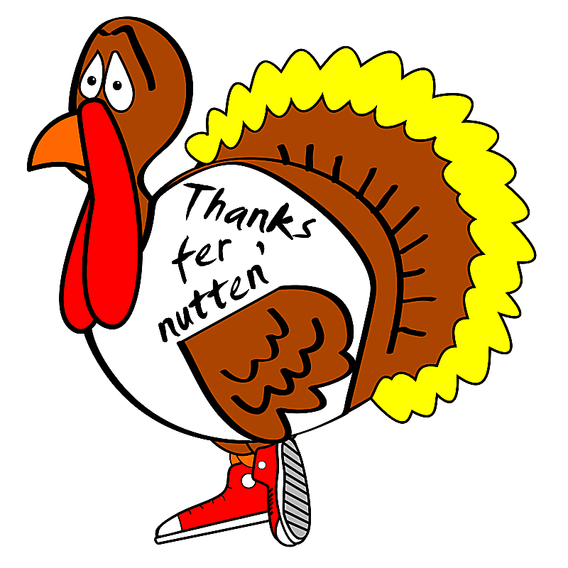 800x800 Happy Thanksgiving Turkey Clipart Black And White 3