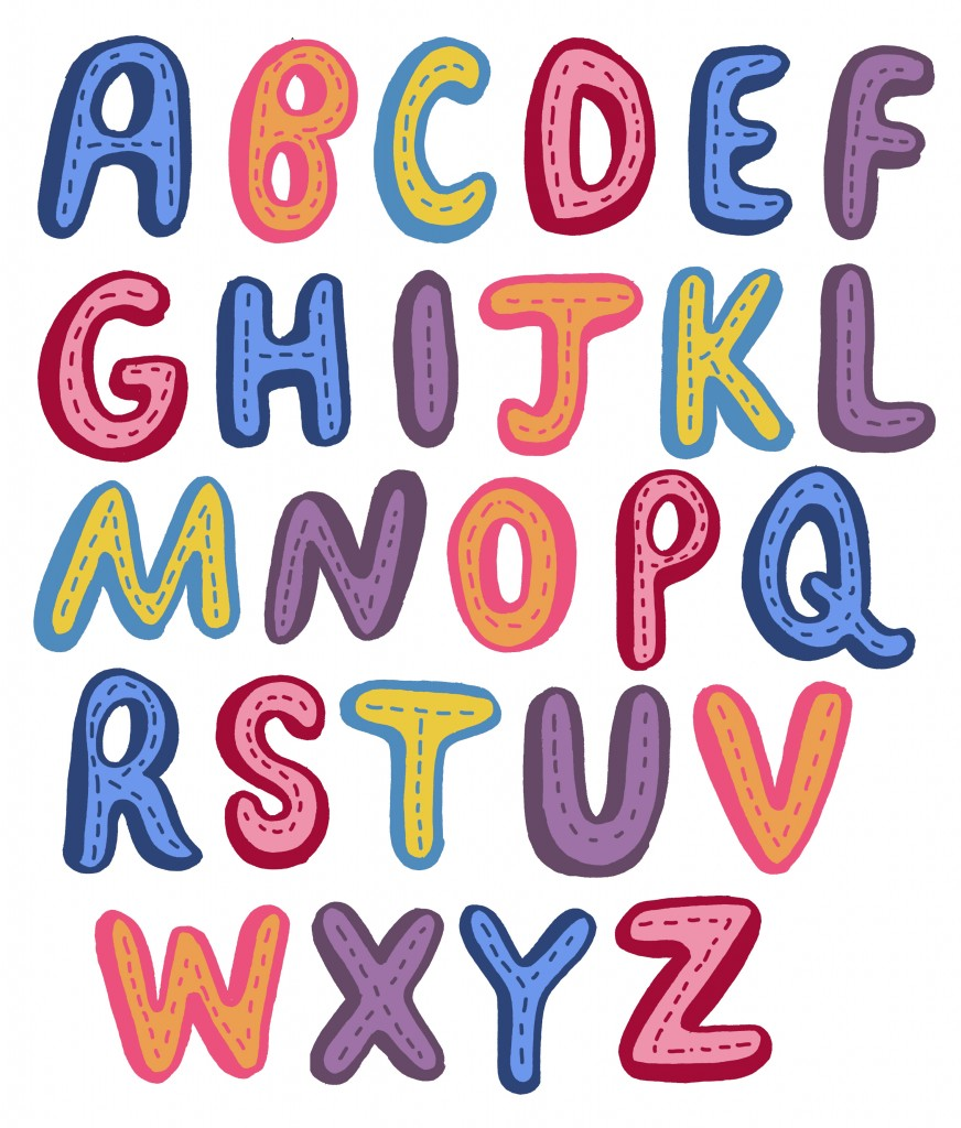 872x1024 Animated Alphabet Clipart