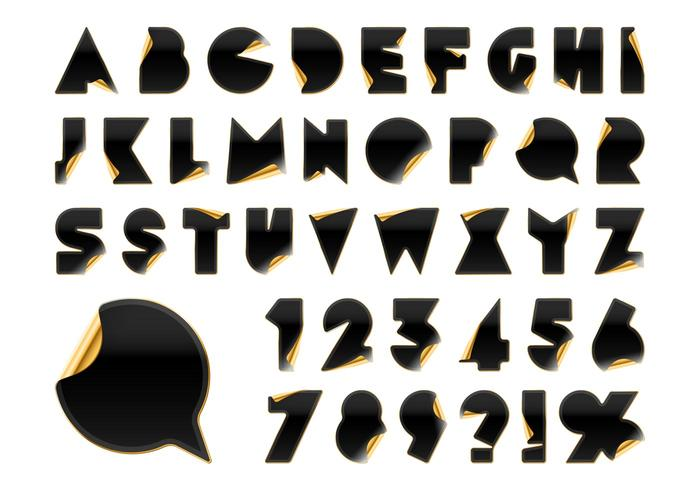 700x490 Gold Alphabet Free Vector Art