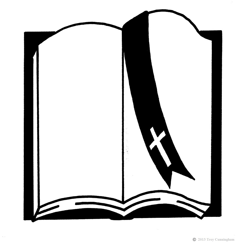 1000x1022 Bible Clipart Black And White