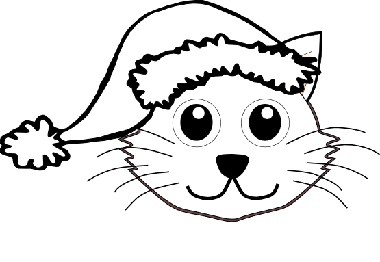 555x383 Cat In The Hat Cat Clip Art Black And White Free Clipart Images