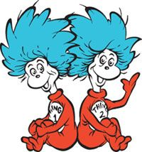 200x214 Thing 1 And Thing 2 Cat In The Hat Clipart