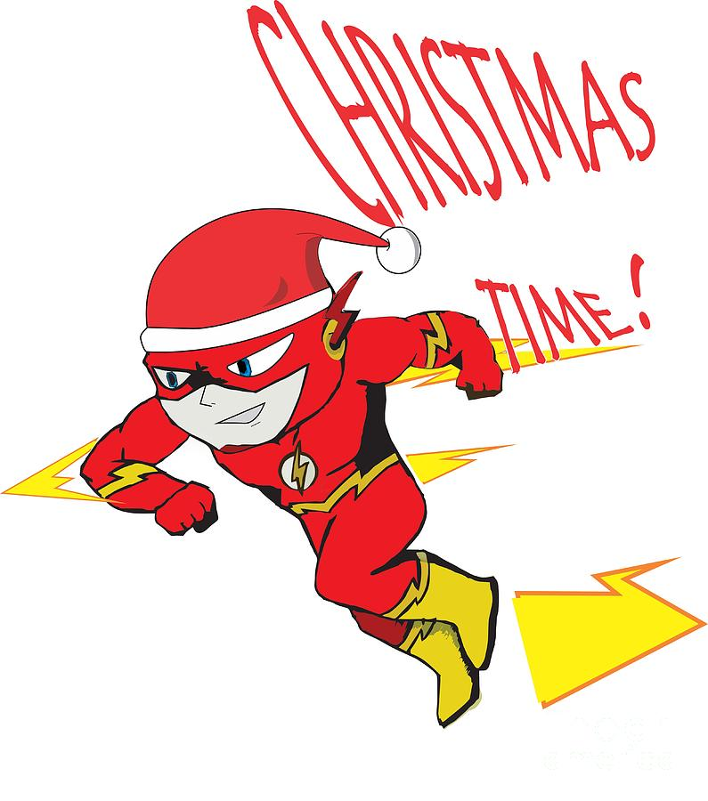 795x900 The Flash Christmas Digital Art By Madiaz Roby