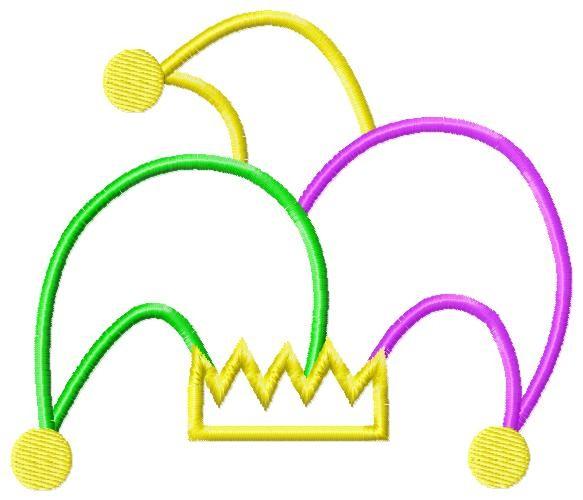 583x500 Mardi Gras Joker Hat Clip Art Image
