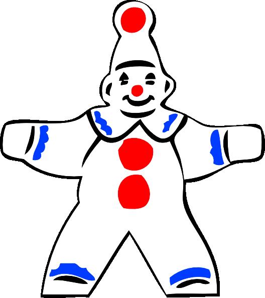 528x594 Simple Clown Figure Clip Art