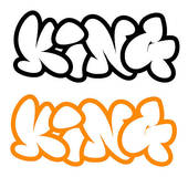 170x160 Clip Art Of The Word King In Graffiti Style K3750572