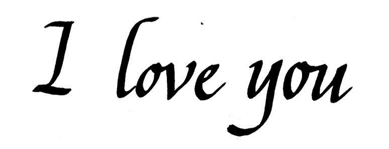 774x296 Graphics For Cursive We Love You Graphics
