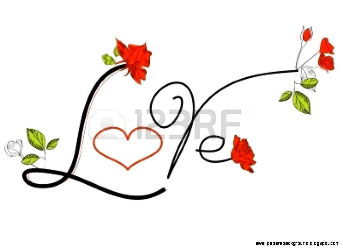 1104x798 The Word Love Written In Cursive Wallpapers Background