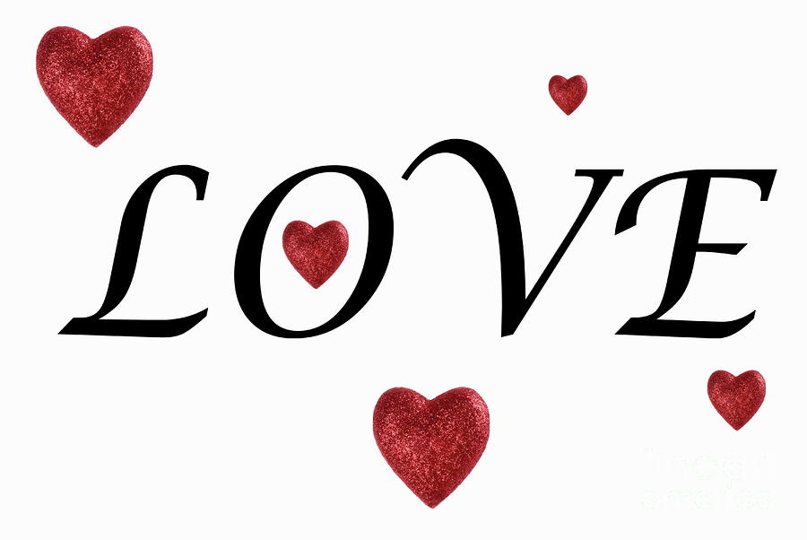 900x602 The Word Love Clipart