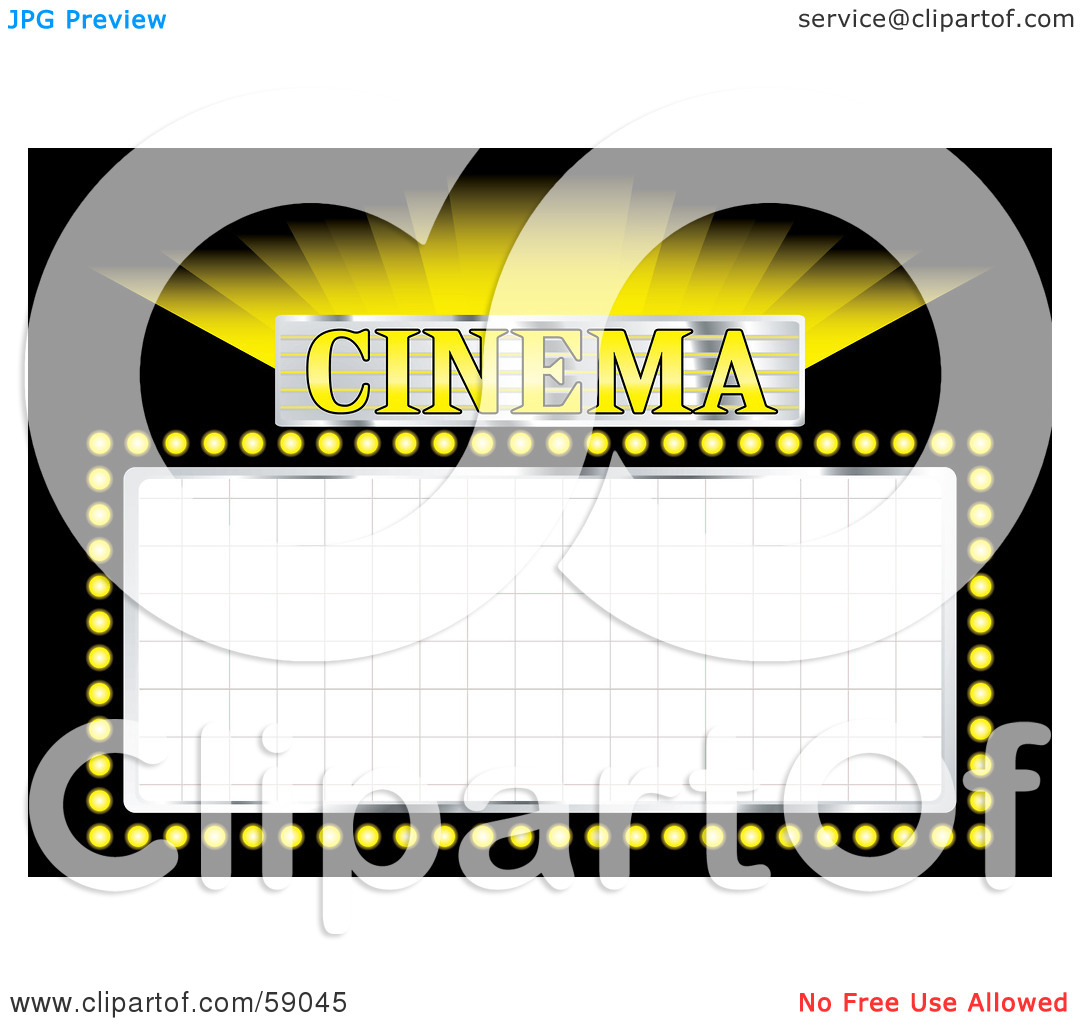 1080x1024 Theater Sign Clipart