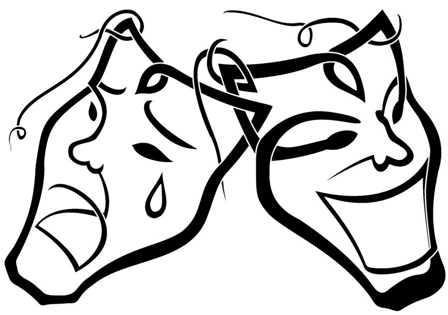 900x632 Masks Clipart Happy Sad