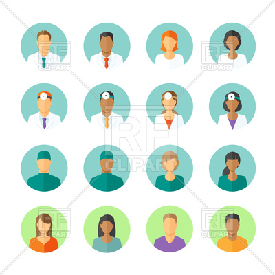 400x400 Set Of Avatars Of Medical Staff