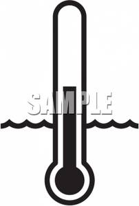 202x300 Image Black And White Thermometer In Water
