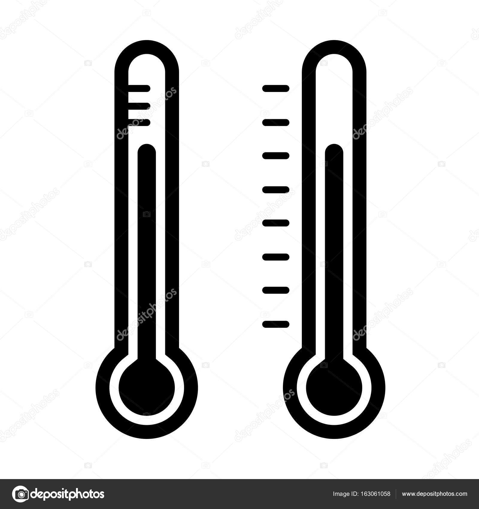 1600x1700 Thermometer Icon On White Background Vector Stock Vector