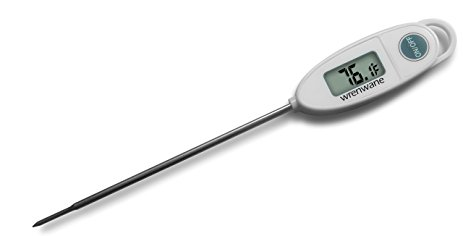 463x236 Wrenwane Digital Meat Thermometer, Instant Read, White