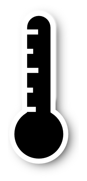 288x597 Black Thermometer Revised Clip Art