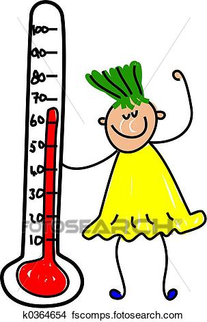 303x470 Drawings Of Thermometer Kid K0364654
