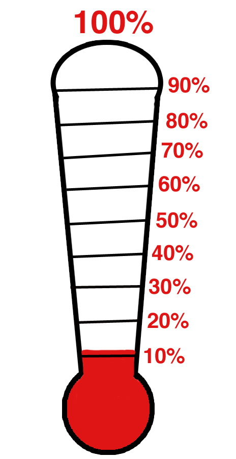 464x900 Printable Fundraising Thermometer Clipart