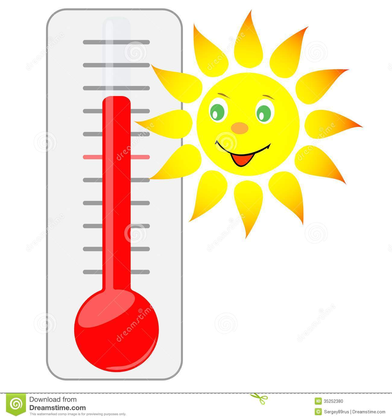 1300x1390 Summer Clipart Thermometer