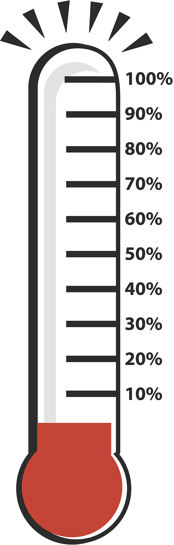 686x2146 Fundraising Thermometer Clipart