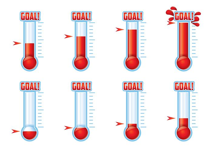 700x490 Goal Thermometer Vector