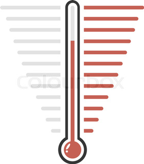 281x320 Goal Thermometer Stock Vector Colourbox