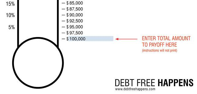 650x310 Free Debt Thermometer Template