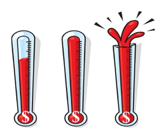 520x455 Fundraising Goal Thermometer Clipart