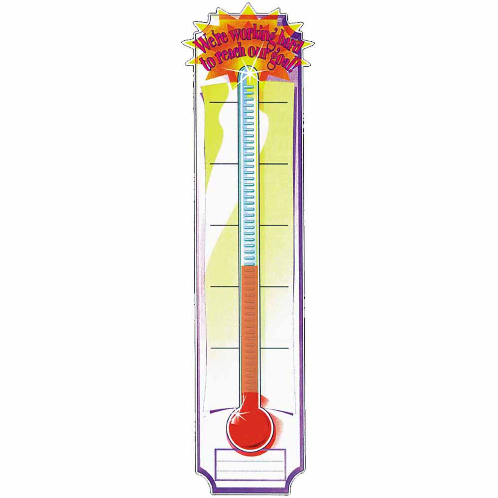 1000x1000 Goal Setting Thermometer Vertical Classroom Banners Eureka School