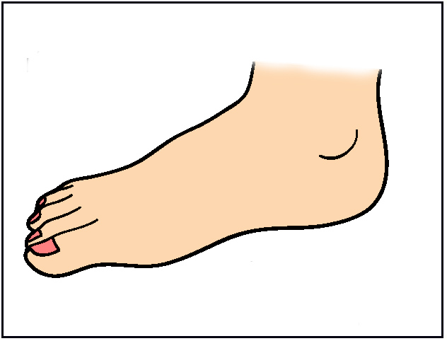632x482 Leg Kicking Body Clipart