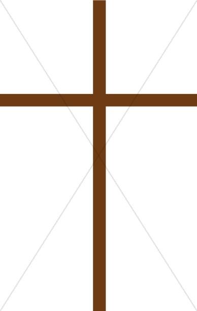 388x612 Thin Brown Cross Cross Clipart