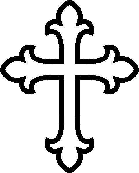 480x597 Black Cross Clipart