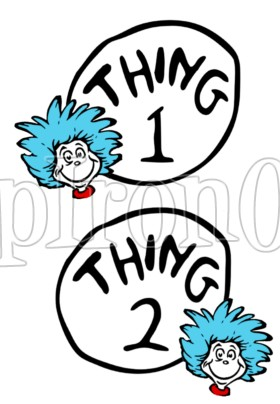 photo regarding Thing 1 and Thing 2 Printable Iron on Transfer referred to as Choice of Go clipart Cost-free obtain simplest Shift