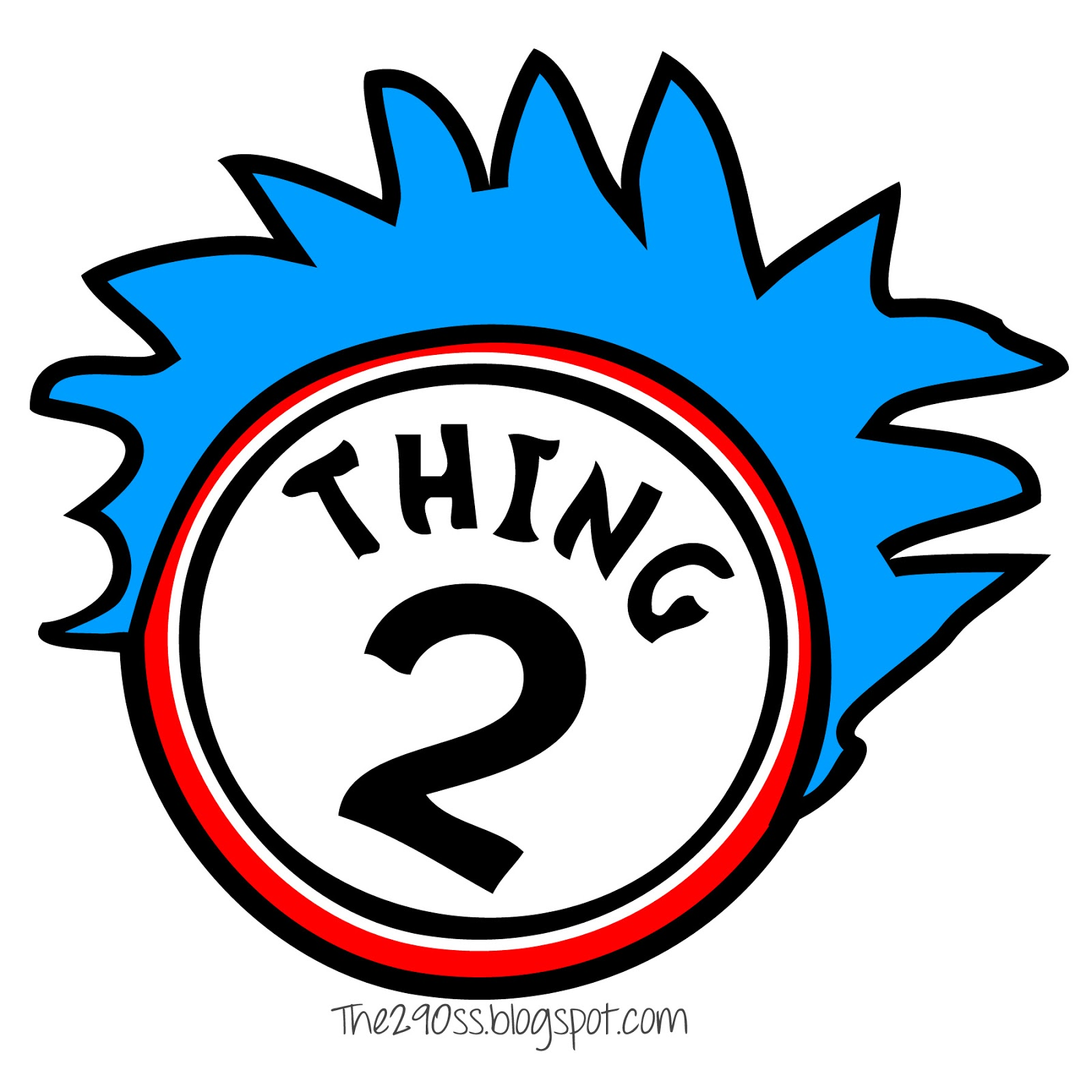 image relating to Thing 1 and Thing 2 Printable Circles identify Factor 1 2 Totally free down load excellent Detail 1 2 upon