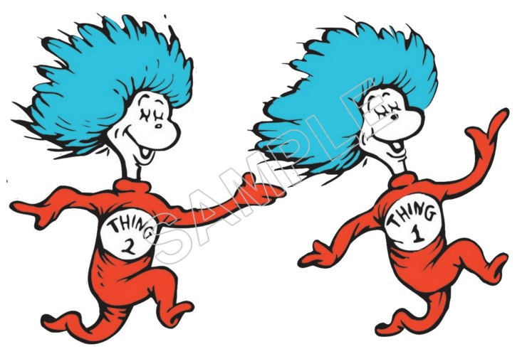 740x491 Dr. Seuss Sally And Nick T Shirt Iron On Transfer Decal