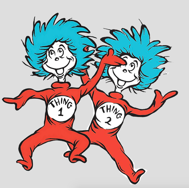 628x625 Thing 1 And Thing 2 Inklings