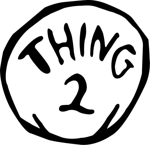 587x568 Thing One And Thing Two Clipart
