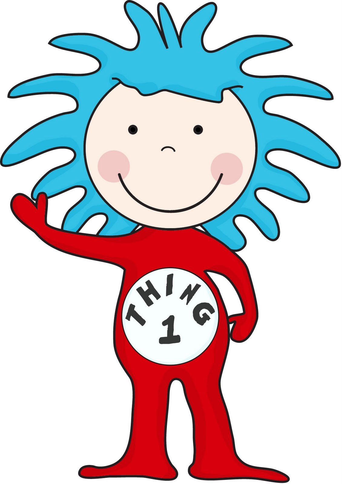 Thing 1 And Thing 2 Coloring Pages | Free download best Thing 1 And ...